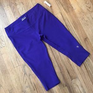NWT Mpg Purple Skinny Capri Leggings